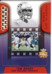 2002 Fleer Focus JE Freeze Frame #9 Tom Brady
