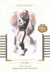 2002 Fleer Focus JE Materialistic Home #2 Tom Brady
