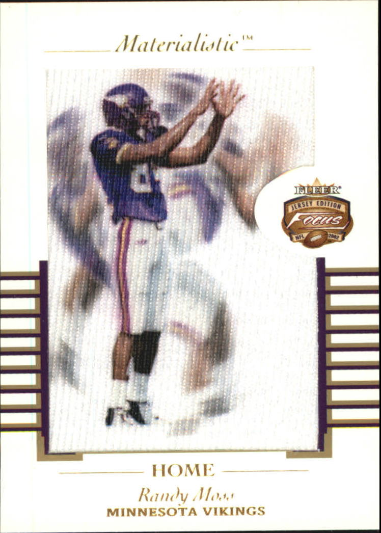 2002 Fleer Focus JE Materialistic Home #11 Randy Moss