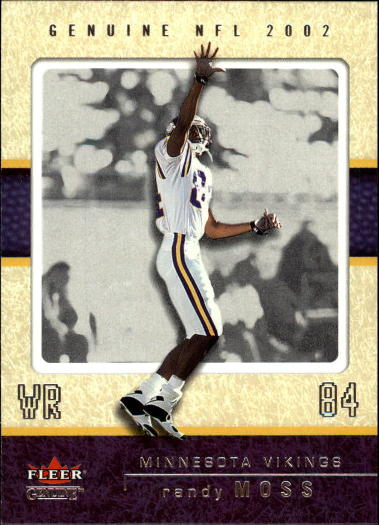 2002 Fleer Genuine #7 Randy Moss