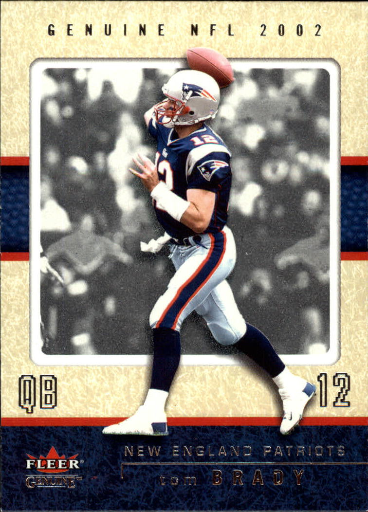 2002 Fleer Genuine #43 Tom Brady