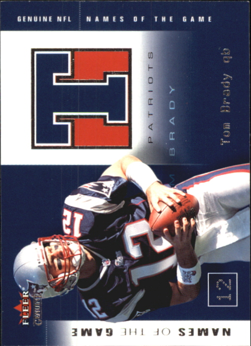 2002 Fleer Genuine Names of the Game #6 Tom Brady