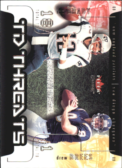 2002 Fleer Genuine TD Threats #13 Tom Brady/Drew Brees