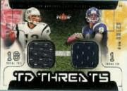 2002 Fleer Genuine TD Threats Jerseys #12 Tom Brady/Drew Brees
