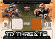2002 Fleer Genuine TD Threats Jerseys #16 Terrell Davis/Corey Dillon