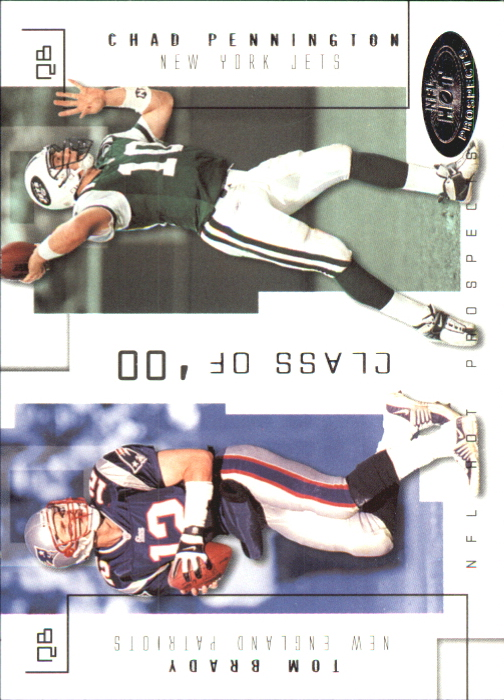 2002 Hot Prospects Class Of #18 Tom Brady/Chad Pennington
