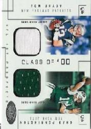 2002 Hot Prospects Class Of Memorabilia #TBCP Tom Brady/Chad Pennington