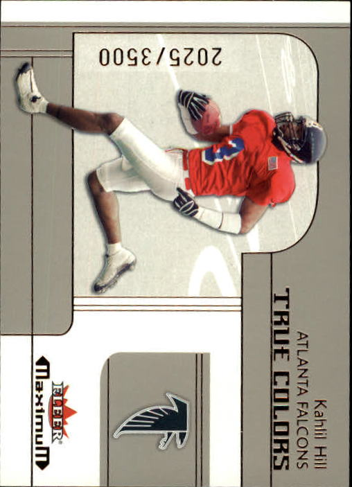 2002 Fleer Maximum #267 Kahlil Hill RC