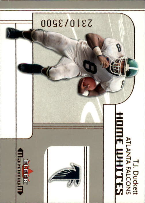 2002 Fleer Maximum #287 T.J. Duckett RC