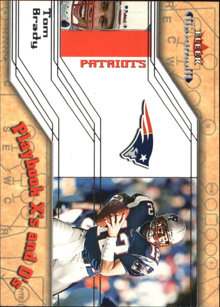 2002 Fleer Maximum Playbook X's and O's #1 Tom Brady