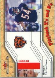 2002 Fleer Maximum Playbook X's and O's #12 Brian Urlacher