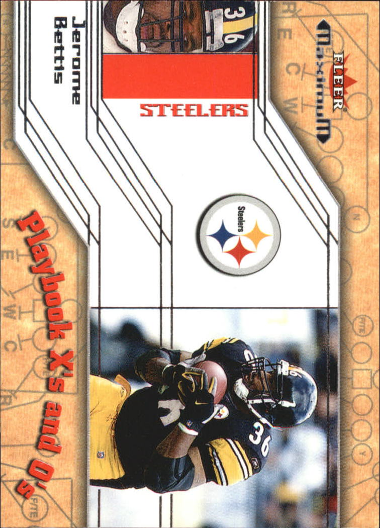 2002 Fleer Maximum Playbook X's and O's #19 Jerome Bettis