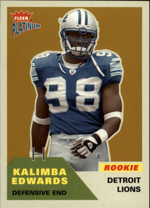 2002 Fleer Platinum #232 Kalimba Edwards RC