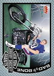 2002 Fleer Platinum Bad to the Bone #BB7 Jeremy Shockey front image