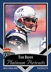 2002 Fleer Platinum Portraits #9 Tom Brady