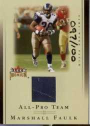 2002 Fleer Premium All-Pro Team Jersey Patches #8 Marshall Faulk