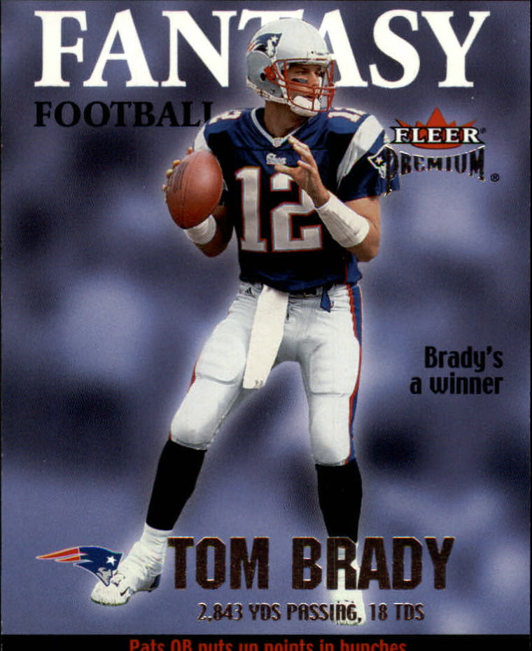 2002 Fleer Premium Fantasy Team #5 Tom Brady