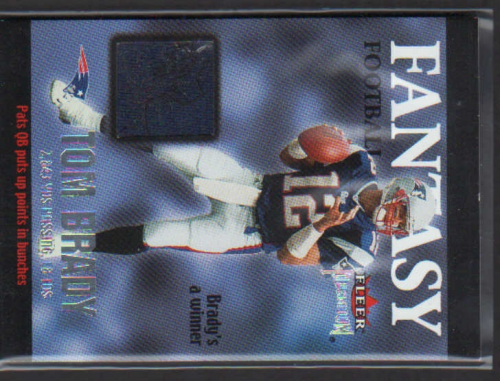 2002 Fleer Premium Fantasy Team Memorabilia #1 Tom Brady