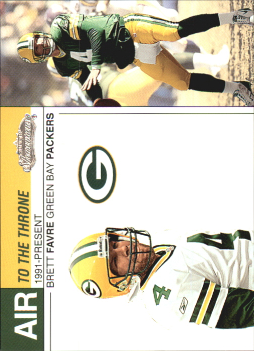 2002 Fleer Showcase Air to the Throne #AT4 Brett Favre