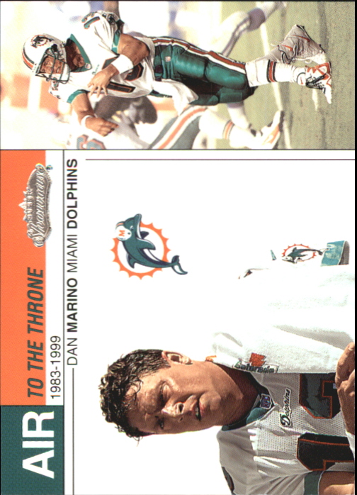 2002 Fleer Showcase Air to the Throne #AT18 Dan Marino