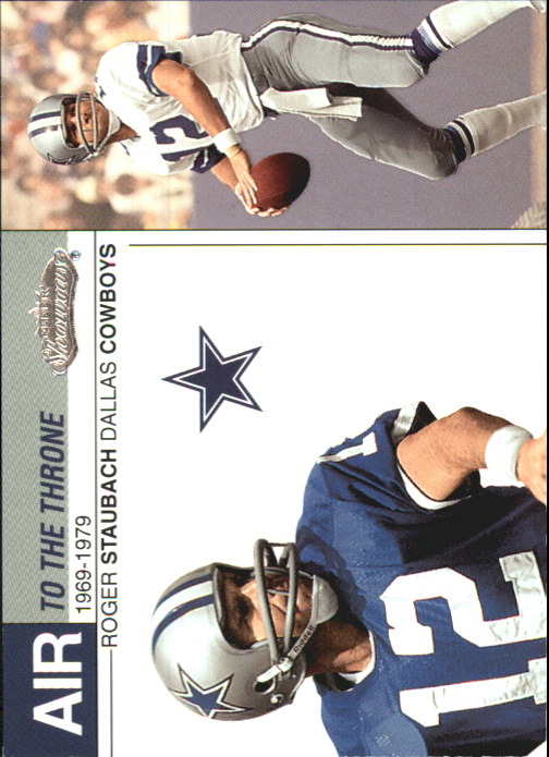 2002 Fleer Showcase Air to the Throne #AT20 Roger Staubach