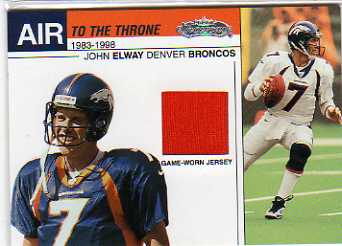 2002 Fleer Showcase Air to the Throne Jerseys #5 John Elway