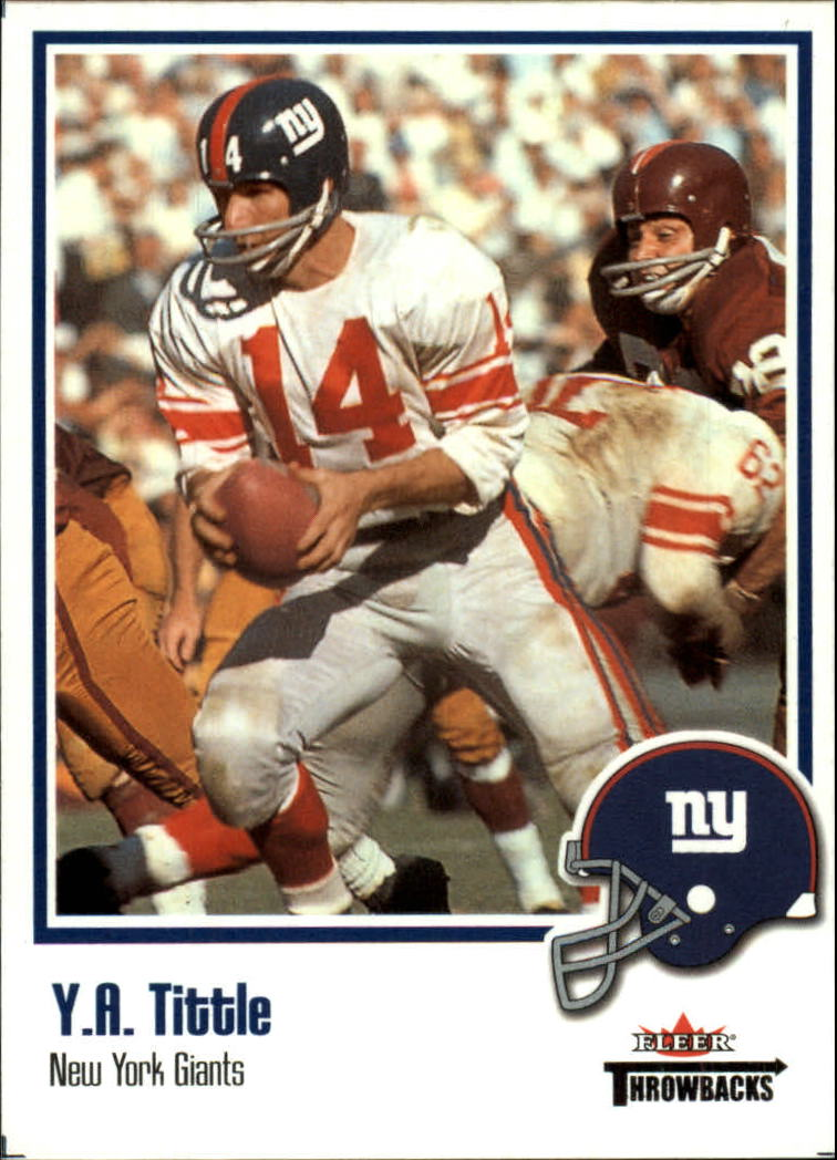 2002 Fleer Throwbacks #3 Y.A. Tittle front image