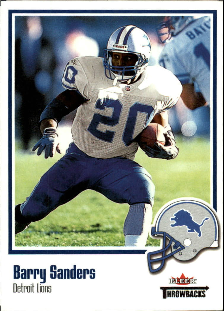 2002 Fleer Throwbacks #40 Barry Sanders
