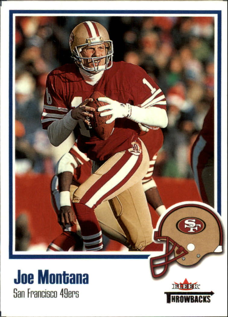2002 Fleer Throwbacks #46 Joe Montana