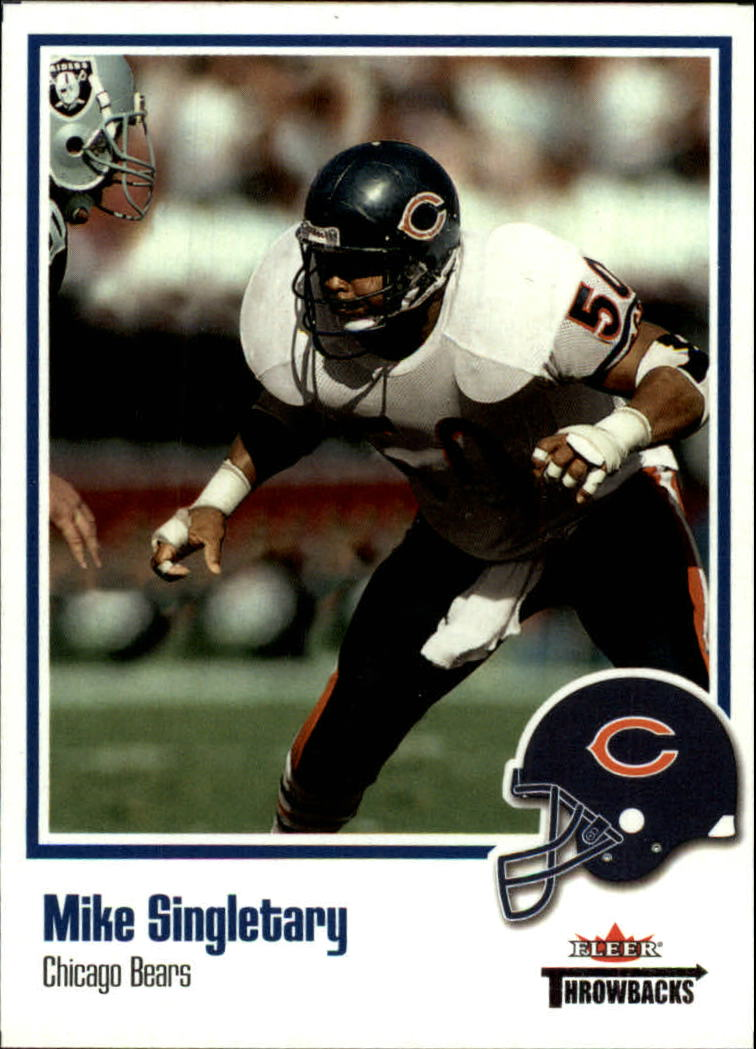 2002 Fleer Throwbacks #50 Mike Singletary