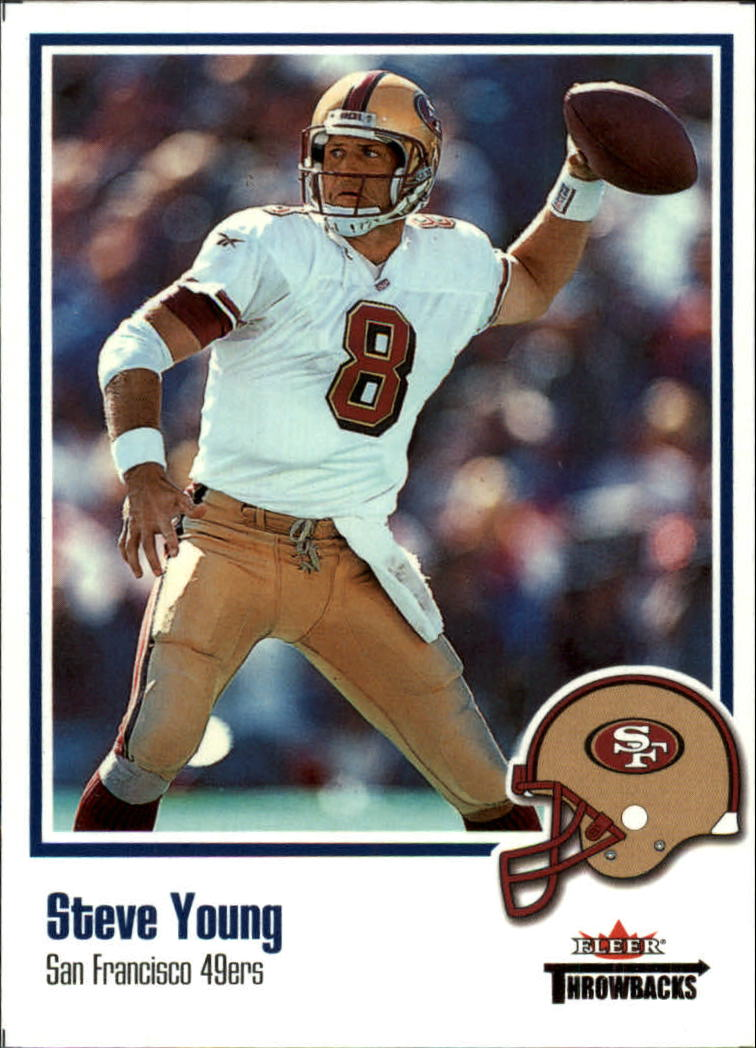 2002 Fleer Throwbacks #52 Steve Young