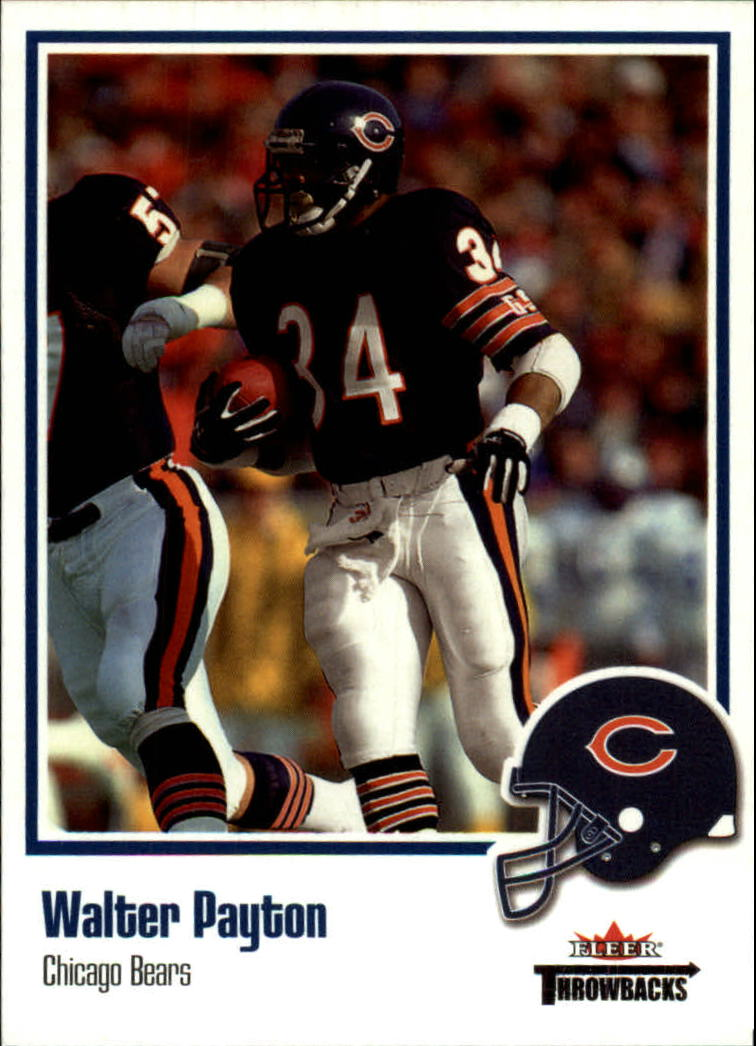 2002 Fleer Throwbacks #53 Walter Payton front image