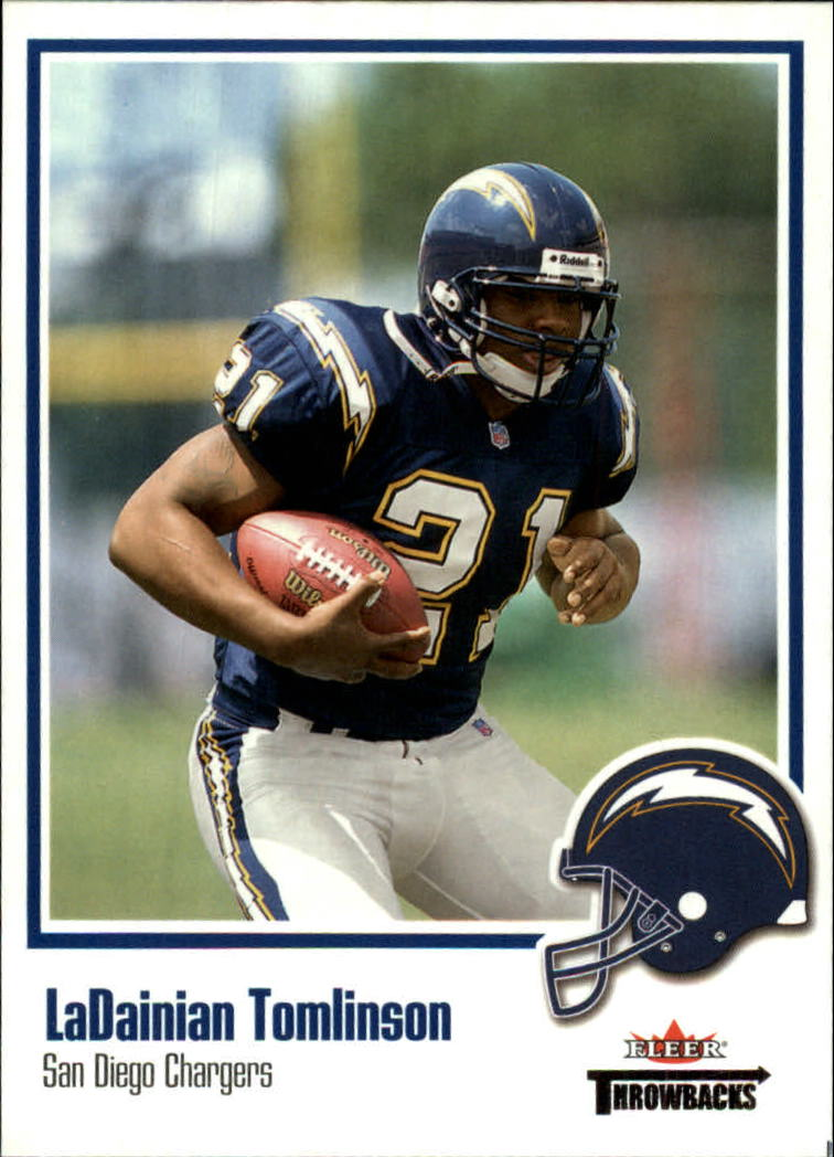 2002 Fleer Throwbacks #60 LaDainian Tomlinson