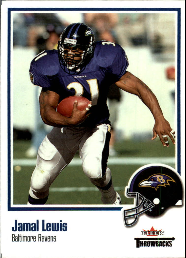 2002 Fleer Throwbacks #68 Jamal Lewis