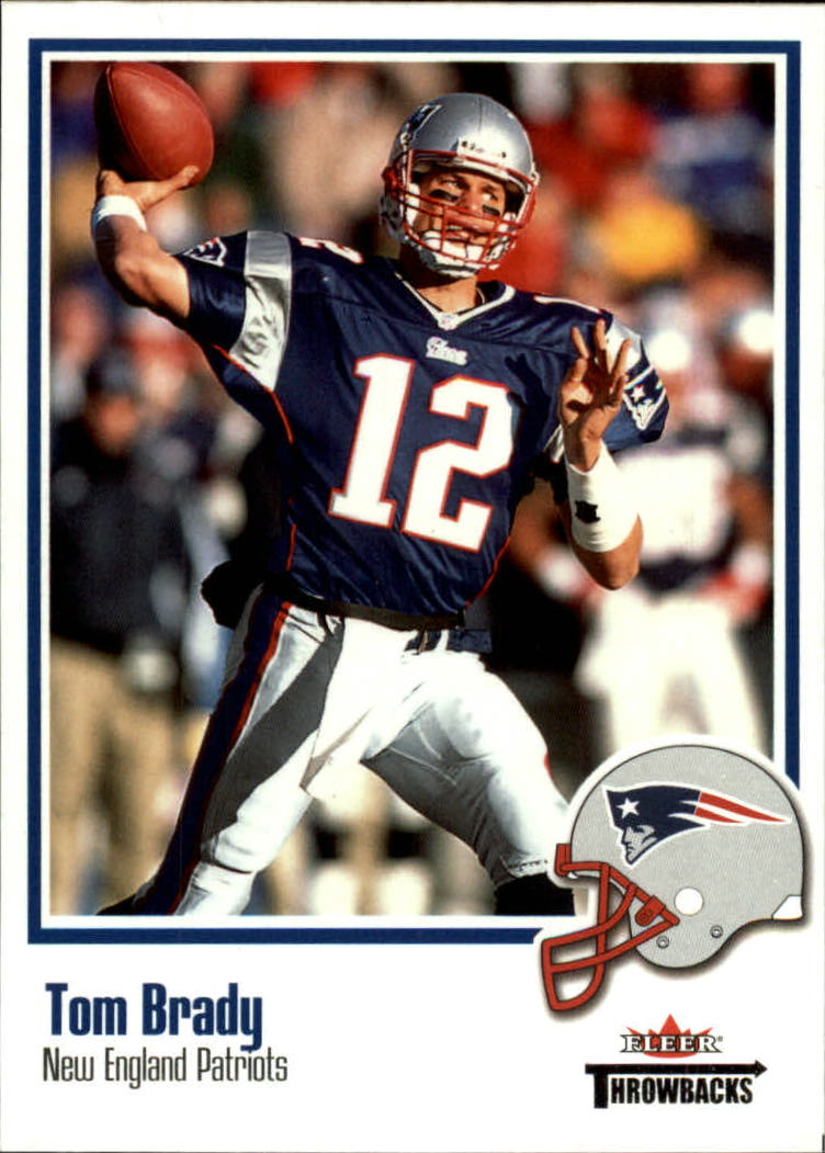 2002 Fleer Throwbacks #75 Tom Brady