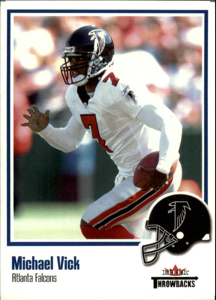 2002 Fleer Throwbacks #80 Michael Vick