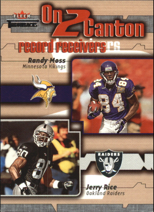 2002 Fleer Throwbacks On 2 Canton #4 Randy Moss/Jerry Rice