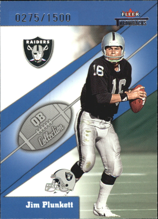 2002 Fleer Throwbacks QB Collection #3 Jim Plunkett