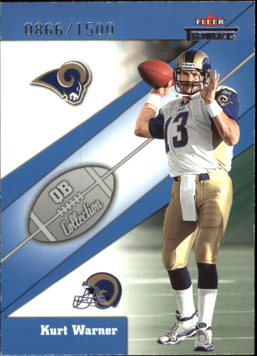 2002 Fleer Throwbacks QB Collection #4 Kurt Warner
