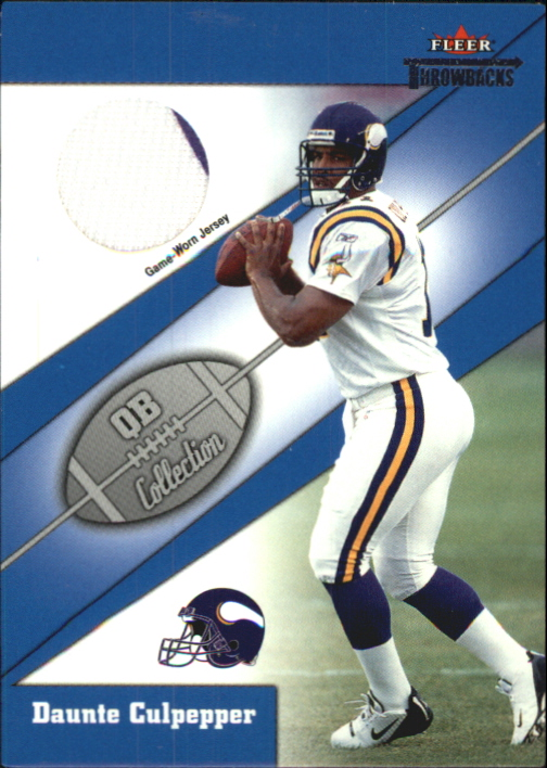 2002 Fleer Throwbacks QB Collection Memorabilia #2 Daunte Culpepper