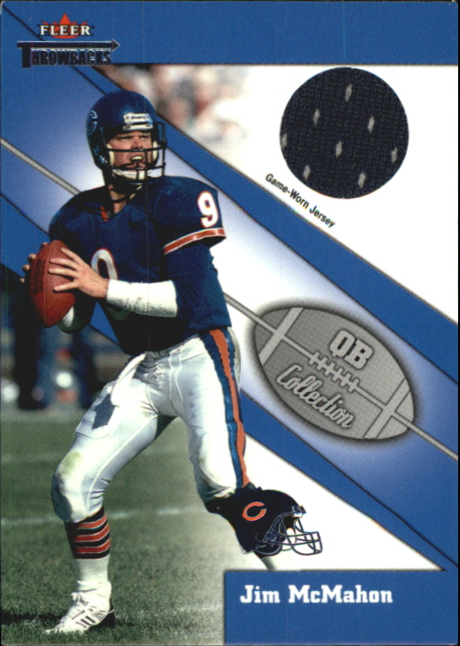 2002 Fleer Throwbacks QB Collection Memorabilia #10 Jim McMahon