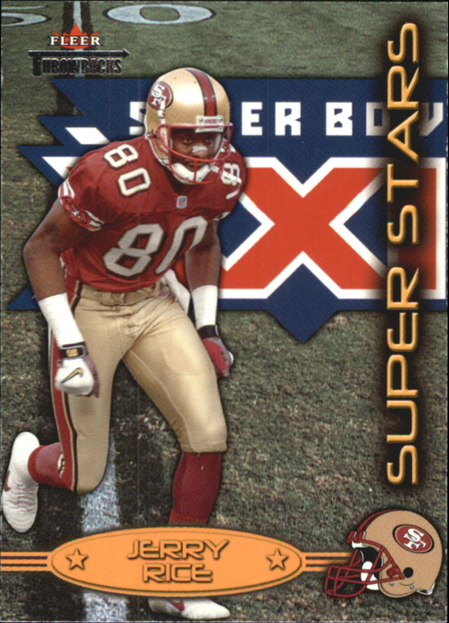 2002 Fleer Throwbacks Super Stars #1 Jerry Rice