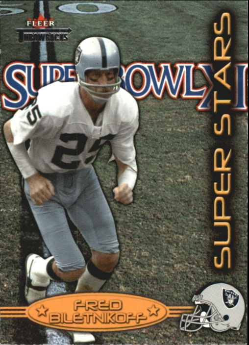 2002 Fleer Throwbacks Super Stars #5 Fred Biletnikoff