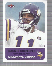 2002 Fleer Tradition #137 Daunte Culpepper