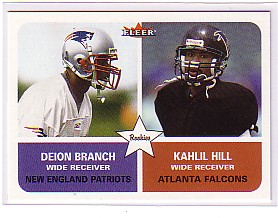 2002 Fleer Tradition #281 Kahlil Hill RC/Deion Branch RC