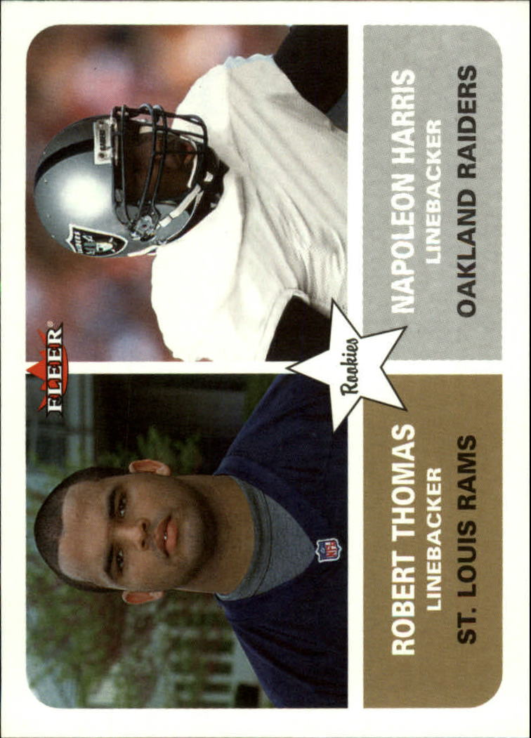 2002 Fleer Tradition #292 Robert Thomas RC/Napoleon Harris RC