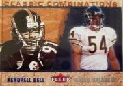 2002 Fleer Tradition Classic Combinations Hobby #1 Kendrell Bell/Brian Urlacher