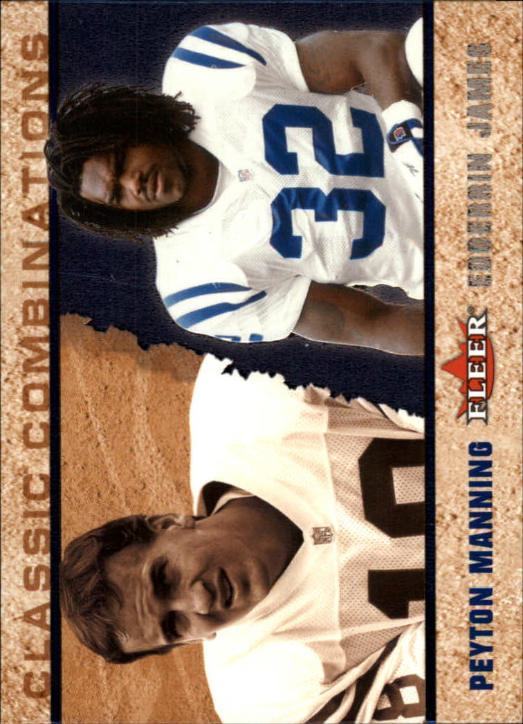 2002 Fleer Tradition Classic Combinations Hobby #5 Peyton Manning/Edgerrin James