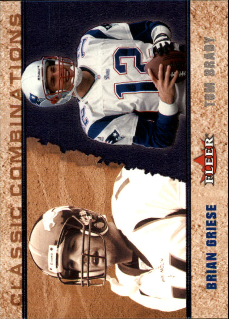 2002 Fleer Tradition Classic Combinations Hobby #7 Brian Griese/Tom Brady