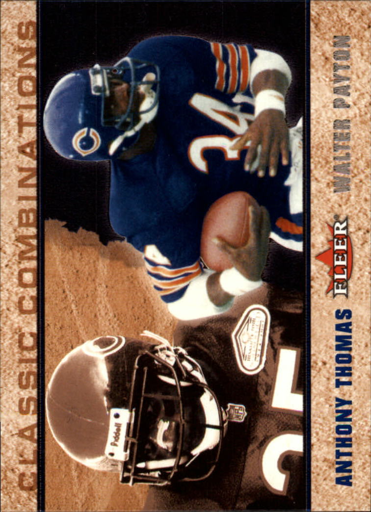 2002 Fleer Tradition Classic Combinations Hobby #9 Anthony Thomas/Walter Payton